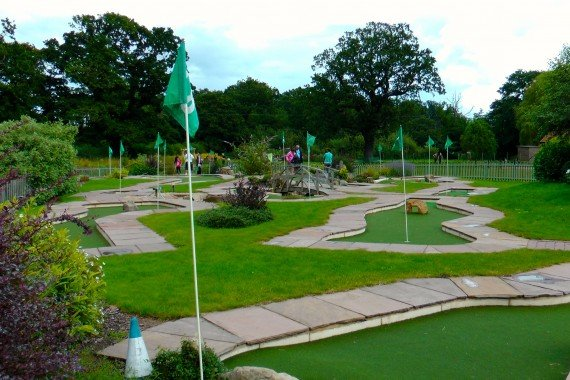 Wroxham Barnes - view of the crazy golf course