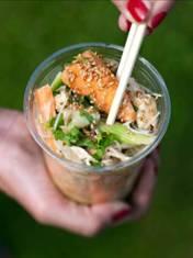 Chicken and Chantenay Carrot Bang Bang Salad - dressing