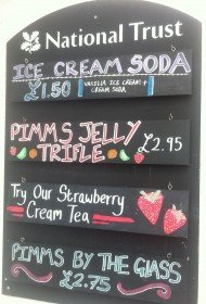 Todays specials at the tearooms.