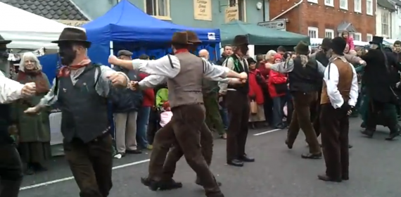Old Glory Molly Dancers at Bungay Christmas Street Fair