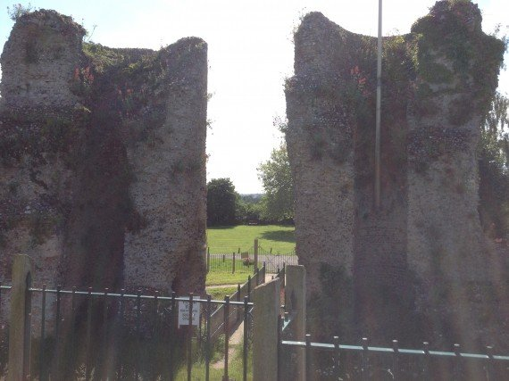 Bungay Castle - view through the towers