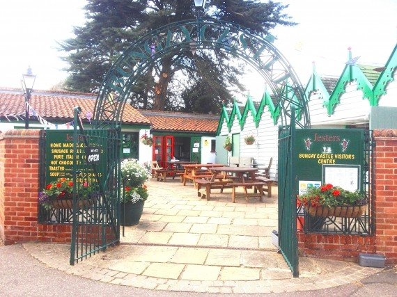 Jesters Cafe Bungay - Entrance to Bungay Castle