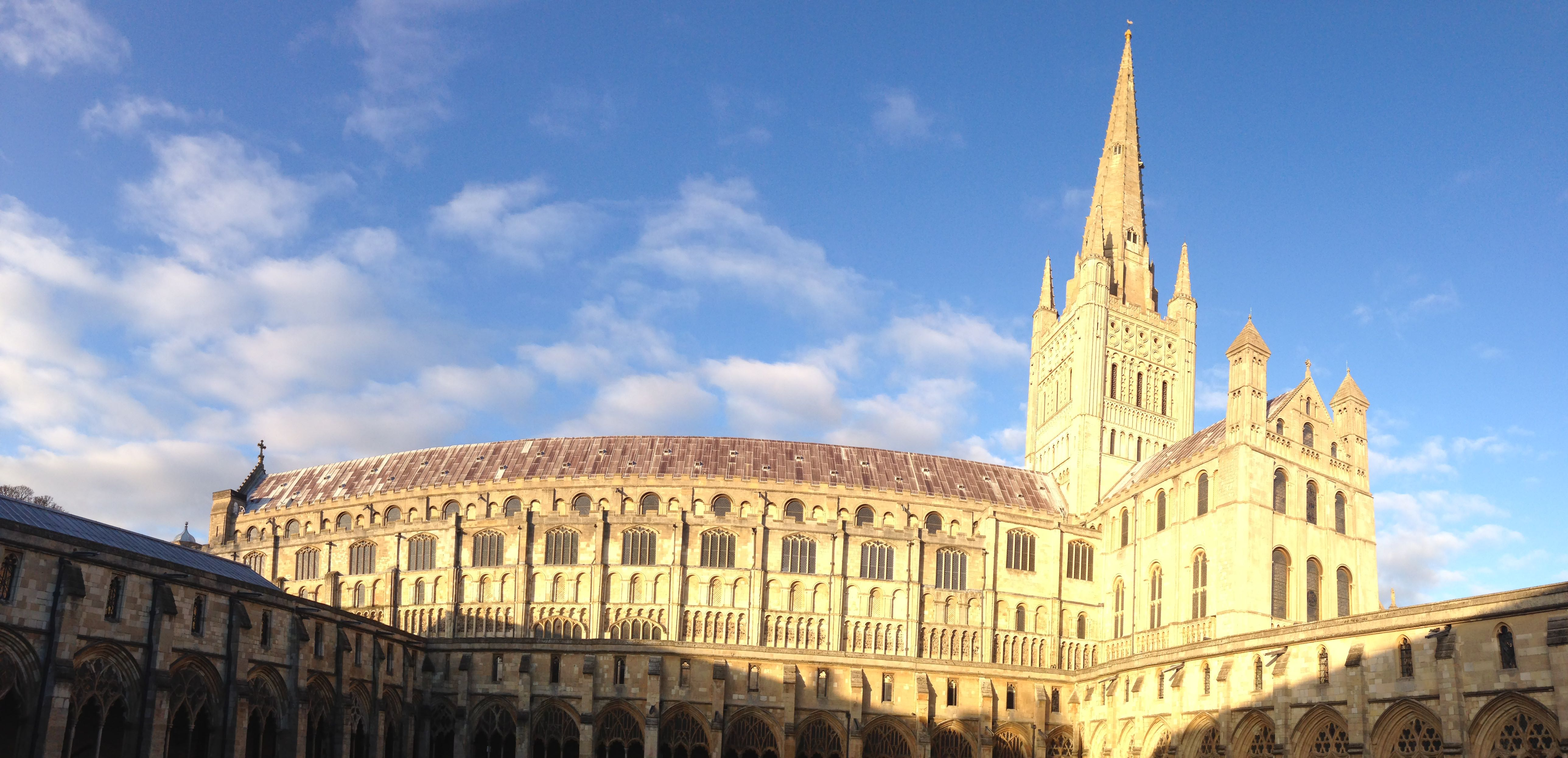 Norwich Cathedral Panarama Shot from the Cloisters