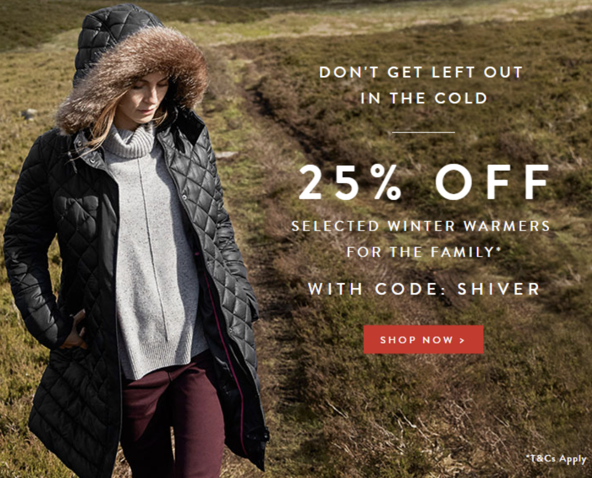 Voucher code for Joules