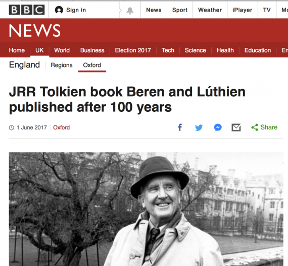 JRR Tolkien book Beren and Lúthien published after 100 years