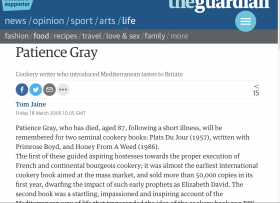 Patience Gray Obituary